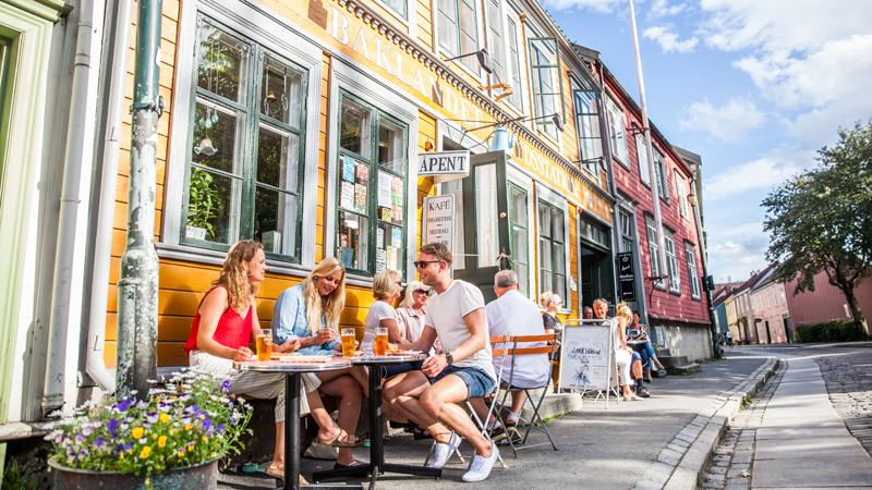 Hurtigruten med Trondheim och Bergen